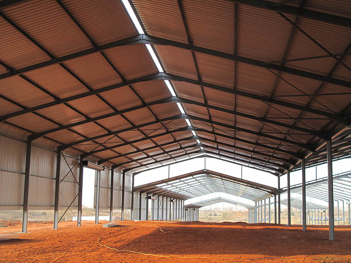 DLN Angola Steel Structure design and erection