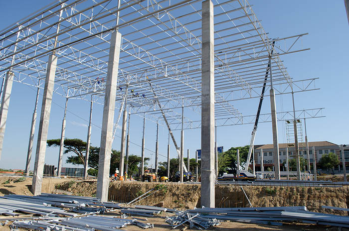BT Steel structure project for Fabric Park