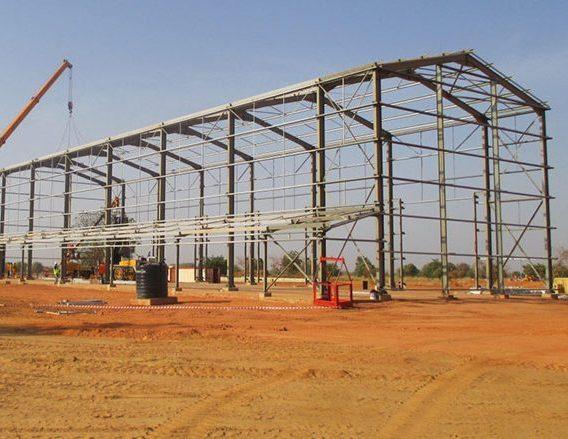 BT Steel strcuture project for karma gold mine