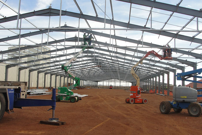 BT Steel structure project for Monsanto SA