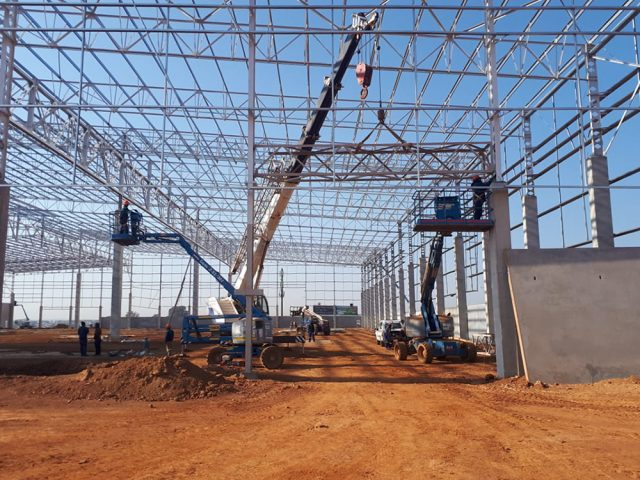 Sunnypack South Africa Steel Structure Construction.