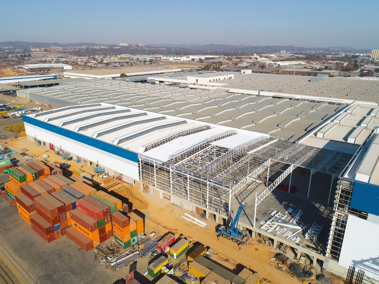 Ford South Africa Steel Structure design and erection